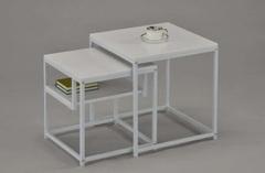 Комплект из 2-х квадратных столиков — Белый (MK-6308-WT)