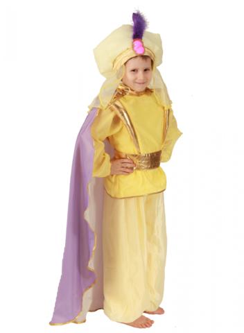 Костюм Восточный принц жёлтый