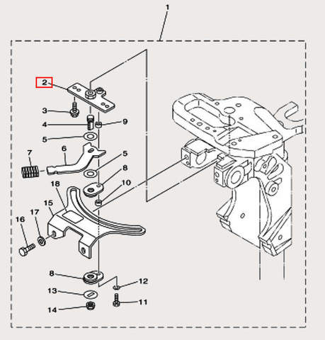 Пластина для лодочного мотора F9,9 Sea-PRO (18-2)