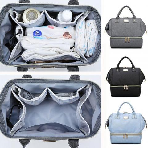 Рюкзак органайзер для мам с USB ( Голубой )