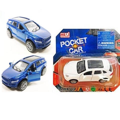 Машина металл PocketCar с открыв.дверями в ассортименте на карт., 1кор*1бл*6шт