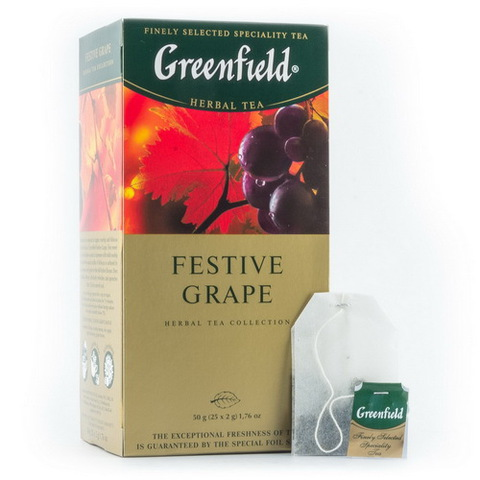 "Чай ""Greenfield"" Festive Grape 25*1,5г"
