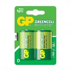 Батарейки GP 13G-S2 Greencell R20, D, трей 20/200