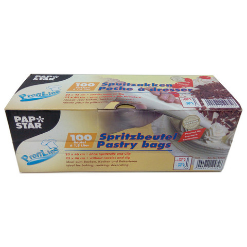 Мешок кондитерский Papstar одноразовый 1.8 л 80 мкм 100 штук в упаковке
