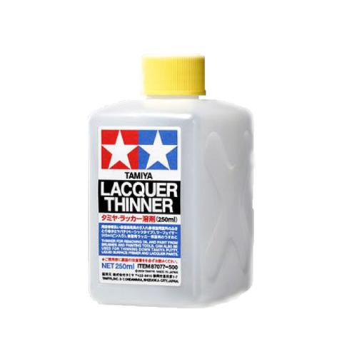 Вспомогальные жидкости Tamiya Lacquer Thinner Лаковый разбавитель, 250 мл 87077.jpg