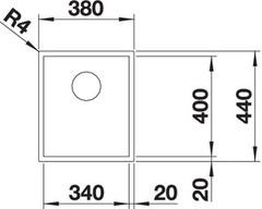 Мойка Blanco Zerox 340-IF схема