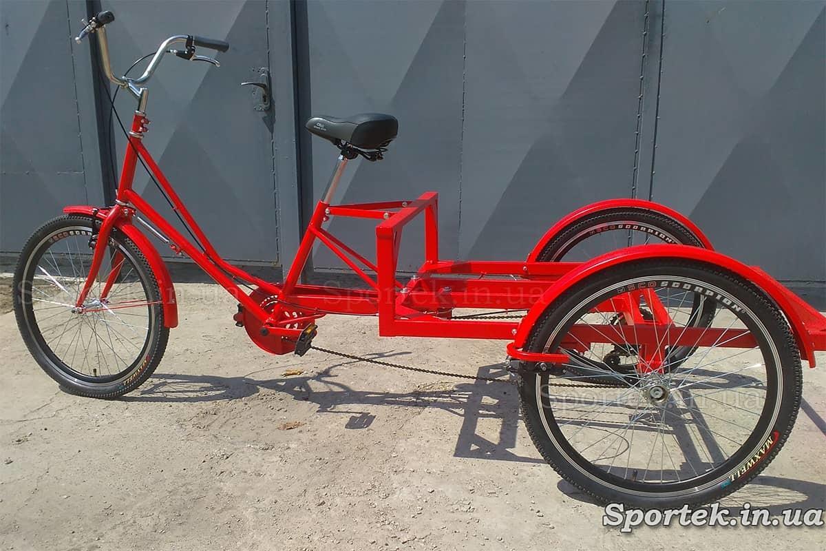 Триколісний вантажний велосипед 'Рекламний' для вуличної торгівлі та реклами з 24 колесами