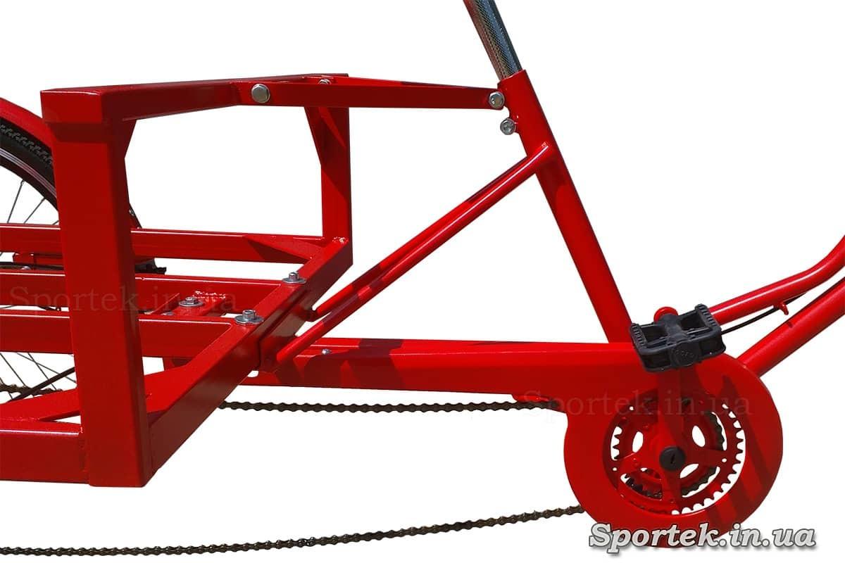 Рама і захист ланцюга триколісного велосипеда 'Рекламний'
