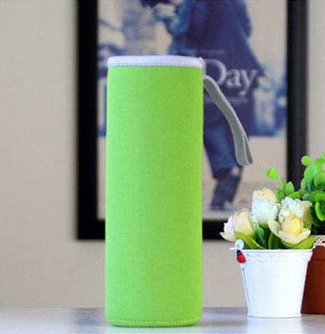 Чехол для бутылки из неопрена 19 см.зеленый