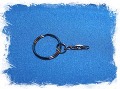 Фурнитура для брелока с кольцом металлическая