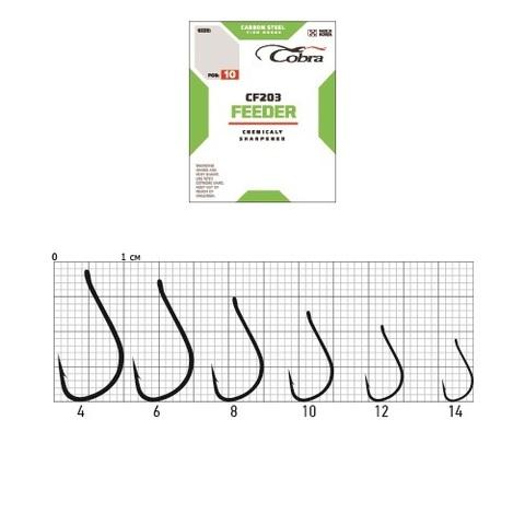 Крючки Cobra FEEDER SPECIALIST, размер №4, упаковка 10 шт.