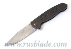Cheburkov Wolf 2019 Damascus Folding Knife