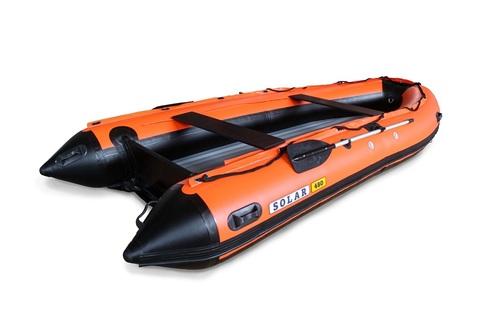 Надувная ПВХ-лодка Солар - 480 Jet Tunnel (оранжевый)