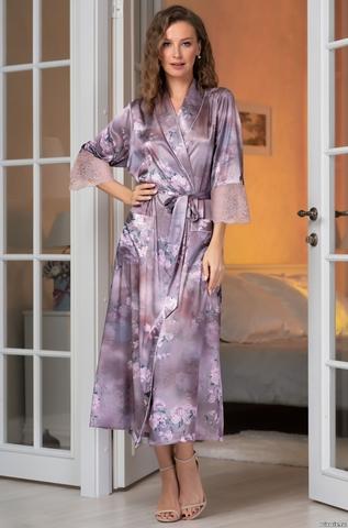 Длинный халат Mia-Amore 3659 (70% нат.шелк)
