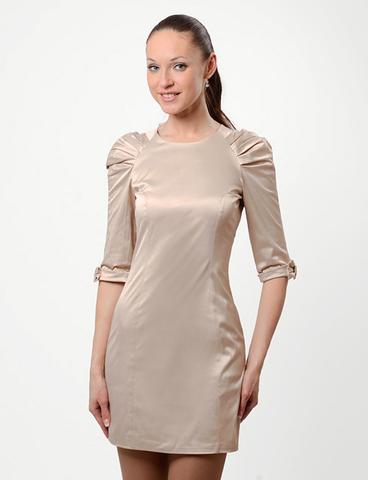 A1881-6 платье женское, бежевое