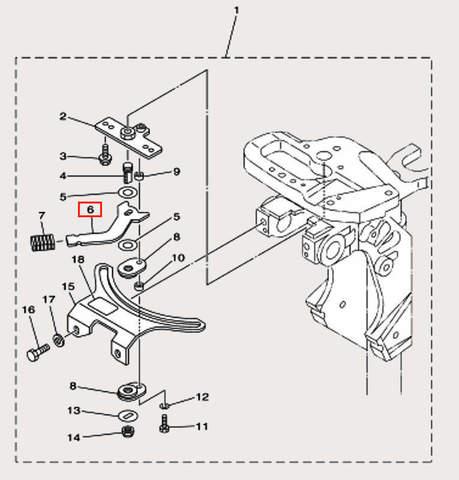 Ручка замка для лодочного мотора F9,9 Sea-PRO (18-6)
