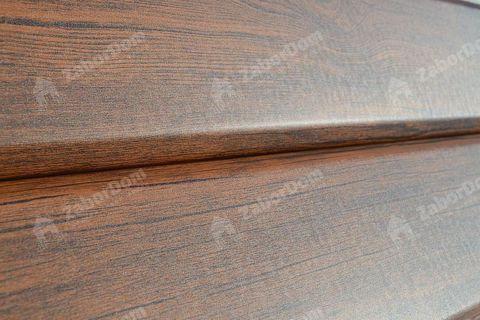 Металлический сайдинг под брус Металл Профиль Ecosteel Мореный дуб матовый 0,5 мм