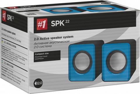 Колонки компьютерные DEFENDER 2.0 SPK 22 2х2,5 Вт USB, синий