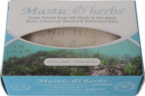 Натуральное мыло с мастикой и морскими водорослями MASTIC & HERBS 125 гр