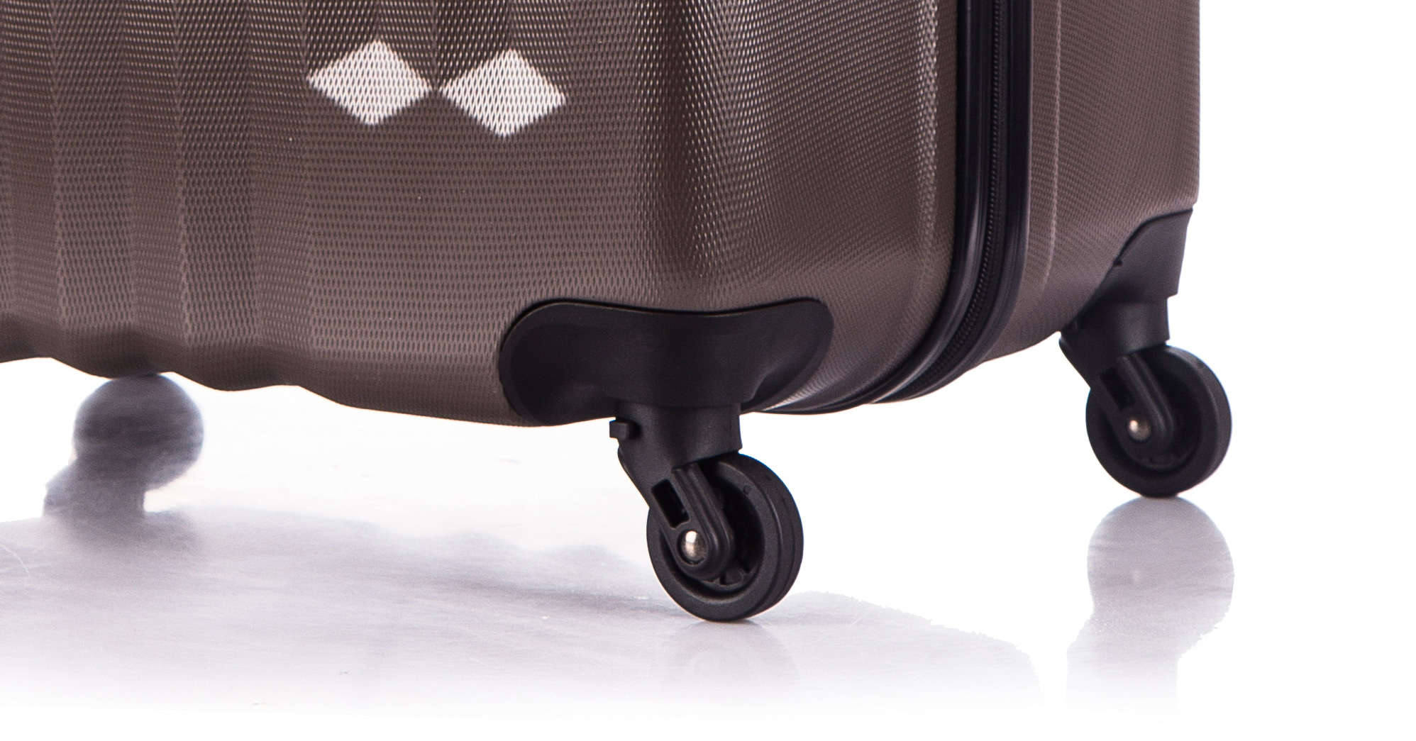 Чемодан со съемными колесами L'case Phuket-24 Кофейный (M+)