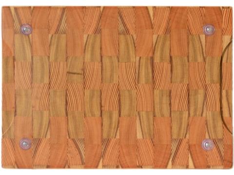 Торцевая разделочная доска 35x25x3 см. лиственница, арт. 078