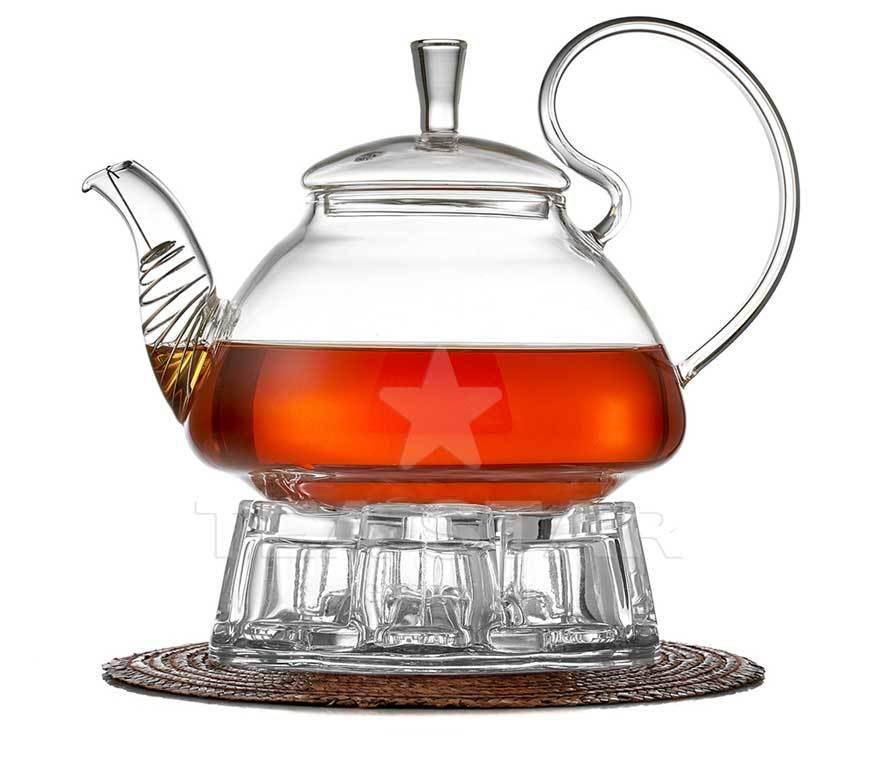 Заварочные стеклянные чайники Заварочный чайник с подогревом от свечи, 1200 мл chaynik_zavarochniy_s_podogrevom_georgin_Gmerch.jpg