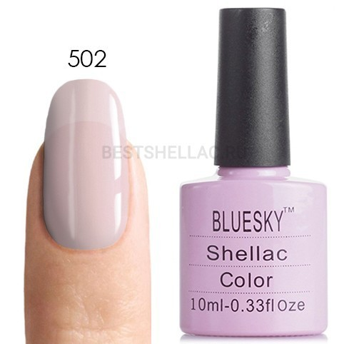 Bluesky Shellac 40501/80501 Гель-лак Bluesky № 40502/80502 Negligee, 10 мл 502.jpg