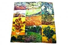 Итальянский шелковый платок, коллаж из картин Ван Гога