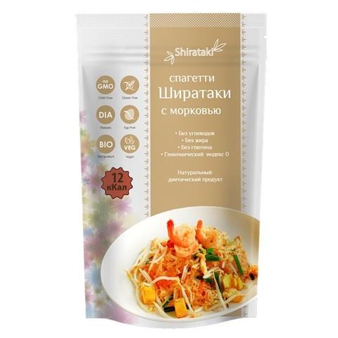 Спагетти с морковью низкокалорийные Ширатаки, 340г