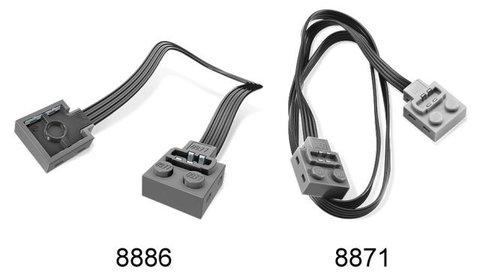 LEGO Education Mindstorms: Дополнительный силовой кабель (50 см) 8871 — Power Functions Extension Wire (50cm) — Лего Образование
