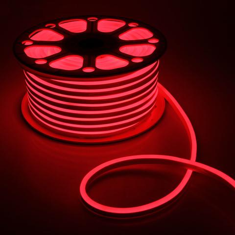 Гибкий неон 8х16 мм, светодиодный | Красный - 50м