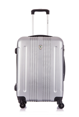 Чемодан со съемными колесами L'case Bangkok-22 Серебро (M)