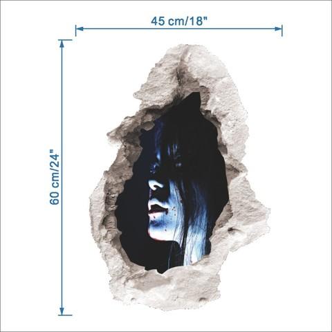 Ужасы 3D наклейка Призрак девушки