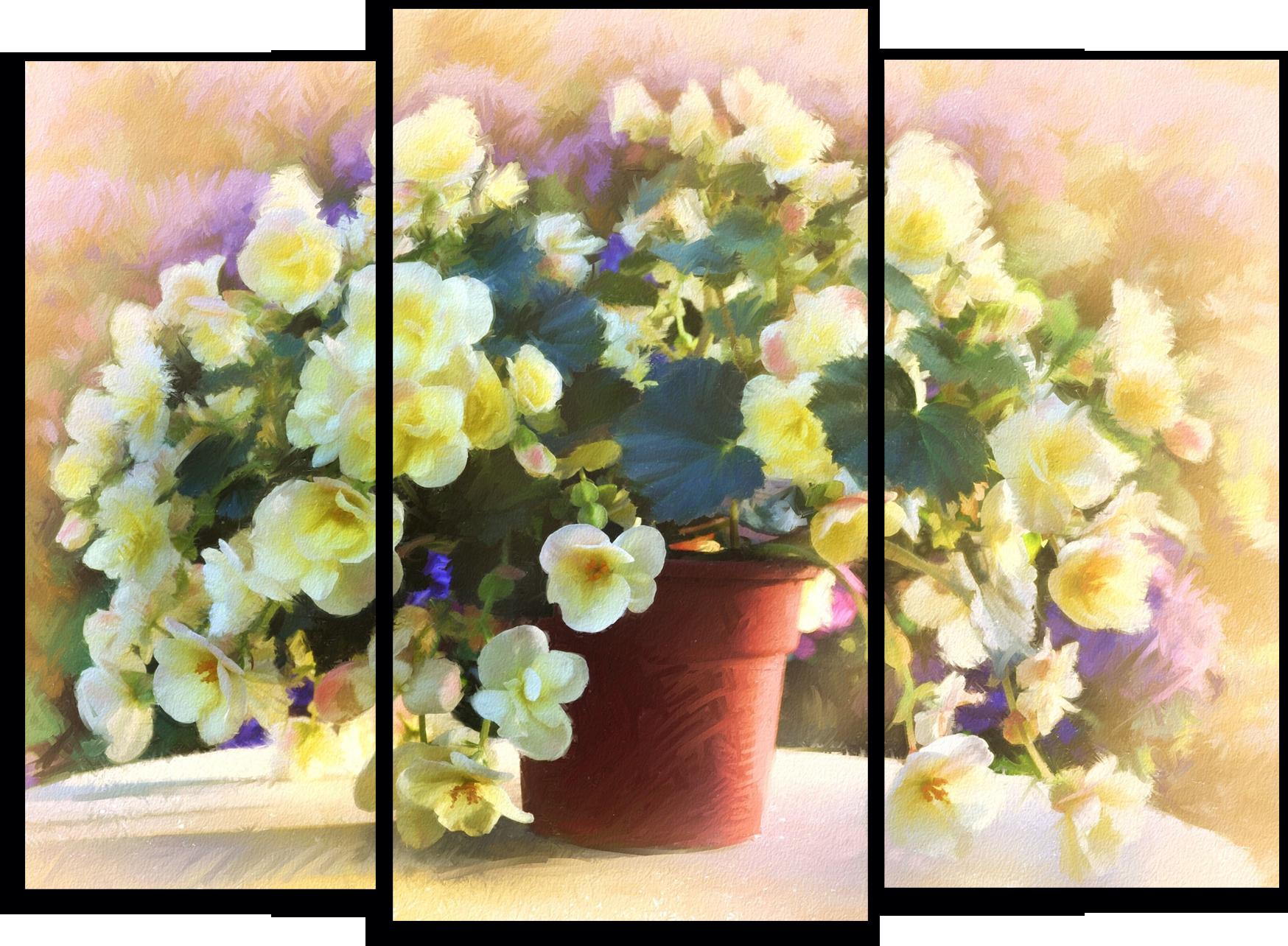 """Цветы Модульная картина """"Волшебный жасмин"""" М736.png"""