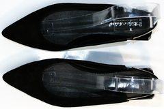 Черные босоножки без каблука Kluchini 5183 Black.