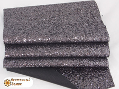 Крупный глиттер на тканевой основе лиловое серебро