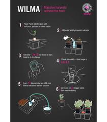 Гидропонная система Wilma Small wide 8 11л