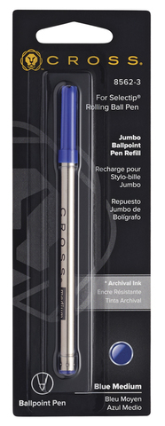 Cross Стержень шариковый для ручки-роллера Selectip, M, синий123