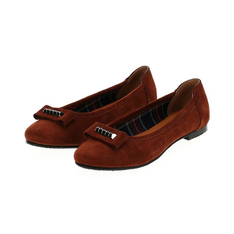 568298 Туфли женские терракот замша. КупиРазмер — обувь больших размеров марки Делфино
