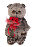 Кот Басик с букетиком роз