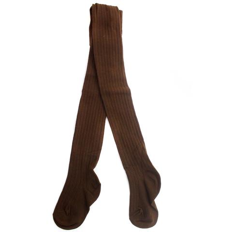 Колготки Рельефные Коричневые Рост 115 см. до 125 см.