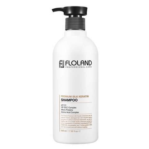 Floland - Шампунь для волос премиум класса с кератином, 530 мл