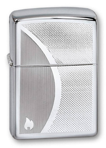 Зажигалка Zippo Shadow Gradiant с покрытием High Polish Chrome, латунь/сталь, серебристая