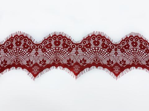 Кружево реснички тёмно-красные (11*290 см)