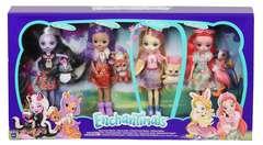 Набор из 4-х кукол Enchantimals Кукла со зверюшкой
