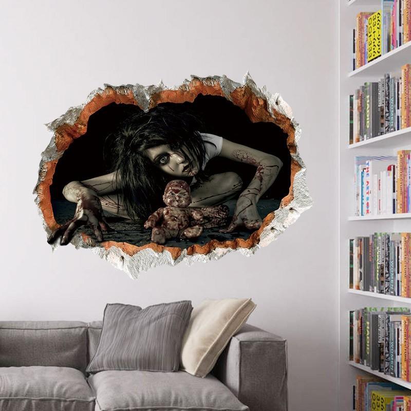Ужасы 3D наклейка Призрак маленькой девочки