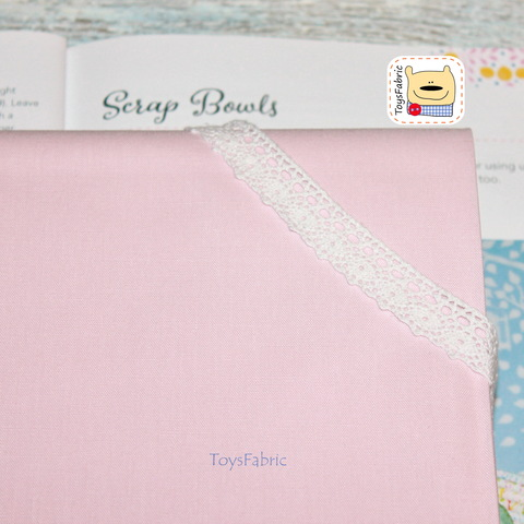 Ткань для пэчворка однотонная светло-розовая 20820 (45х55см)