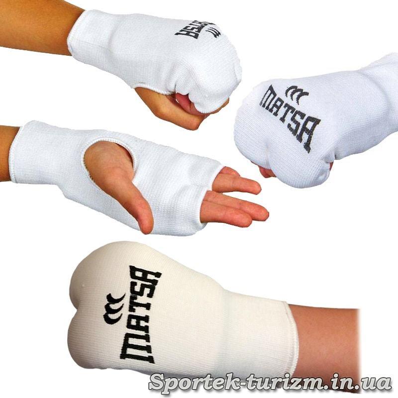 Захист кисті (накладки) для карате Matsa на руці
