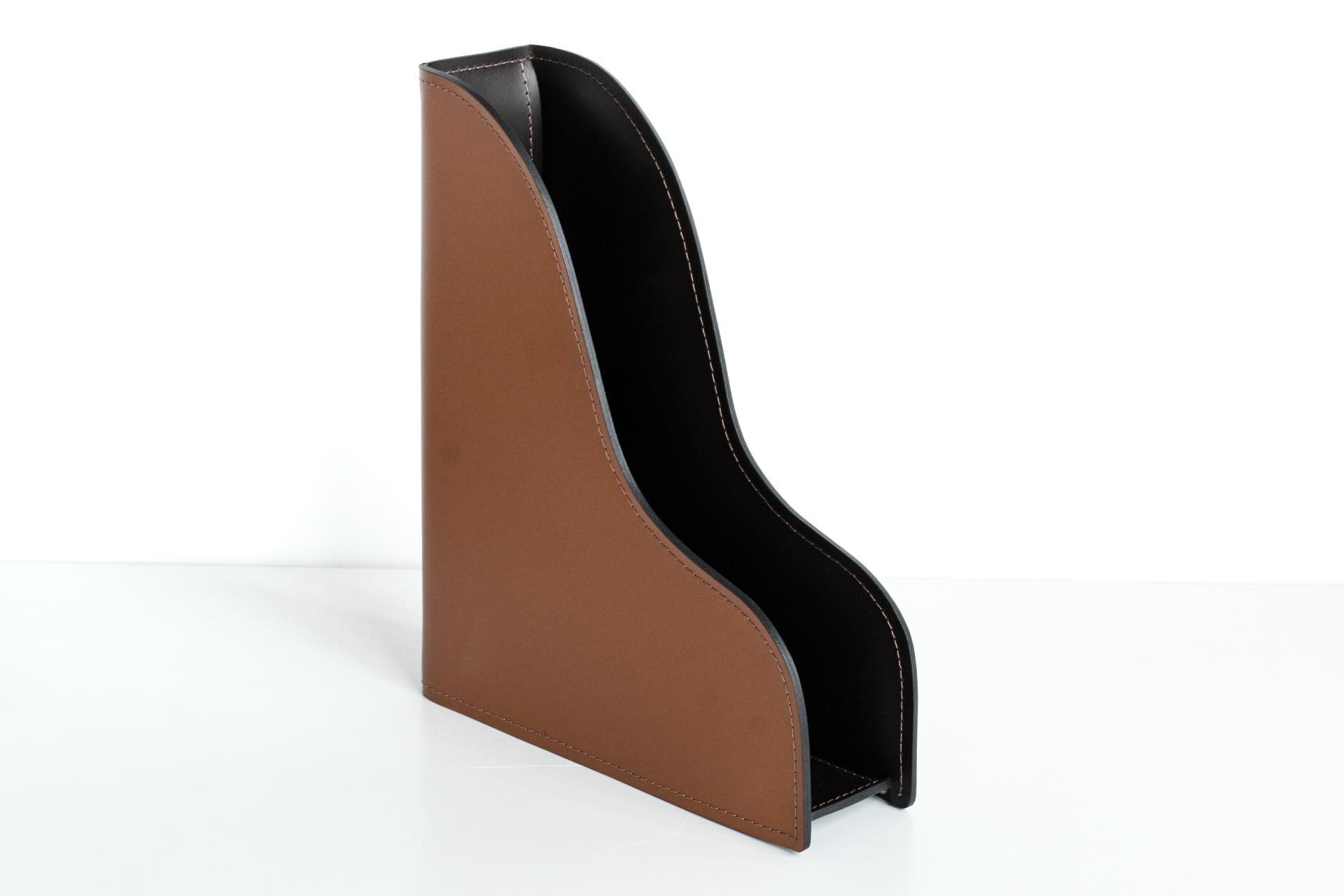 Лоток А4 вертикальный БИЗНЕС Табак / шоколад