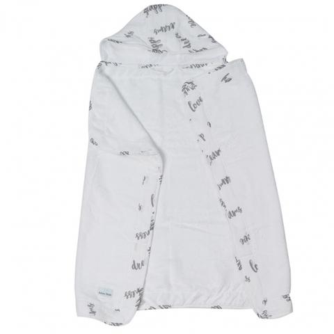 Полотенце с капюшоном 0+ Adam Stork Happiness 70 х 91,5 см.